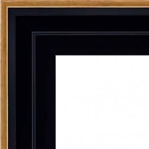 cadre caisse americaine cadre caisse am ricaine noire filet or double carr format double. Black Bedroom Furniture Sets. Home Design Ideas