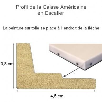 cadre caisse americaine caisse am ricaine wengue en escalier pour encadrer tableau format. Black Bedroom Furniture Sets. Home Design Ideas