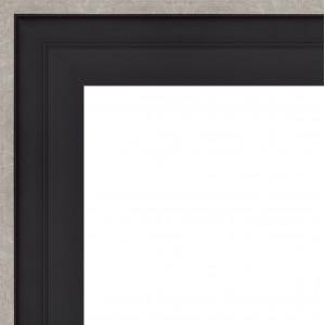 Caisse Américaine Noire Filet Argent Grand Format