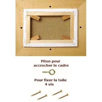 cadre caisse americaine cadre caisse am ricaine en l bois naturel format double carr format. Black Bedroom Furniture Sets. Home Design Ideas