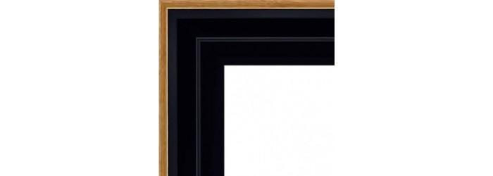 cadre caisse americaine caisse am ricaine noir filet dor en escalier. Black Bedroom Furniture Sets. Home Design Ideas