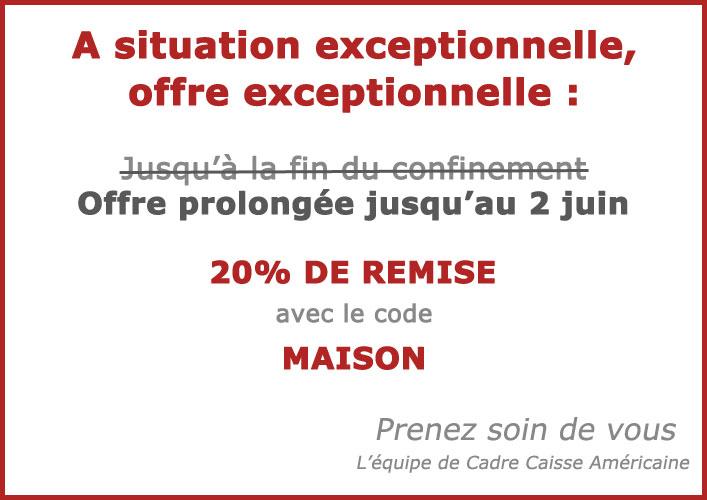 20% de remise avec le code MAISON